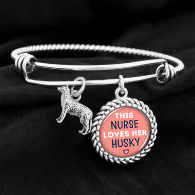 This Nurse Loves Her Husky Charm Bracelet