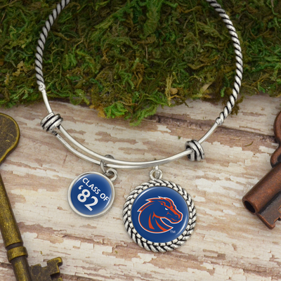 "Customizable Graduation Year ""Class Of"" Boise State Broncos Charm Bracelet"