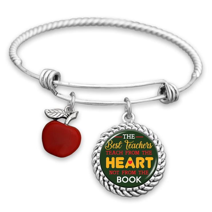 The Best Teachers Teach From The Heart Charm Bracelet