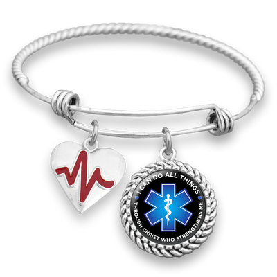 Can Do All Things EMT Charm Bracelet