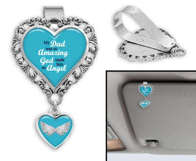 So Amazing Dad Heart Auto Visor Clip