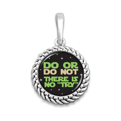 "Do Or Do Not, There Is No ""Try"" Easy-O Zipper Pull Charm"