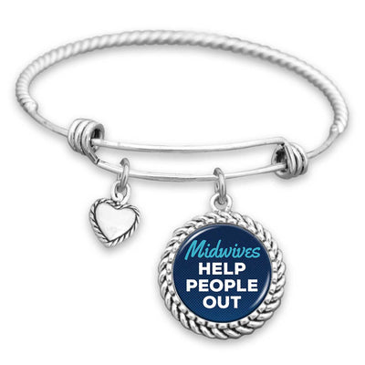 Midwives Help People Out Charm Bracelet