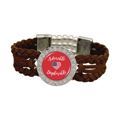 "Trump ""Adorable Deplorable"" Leather Bracelet"