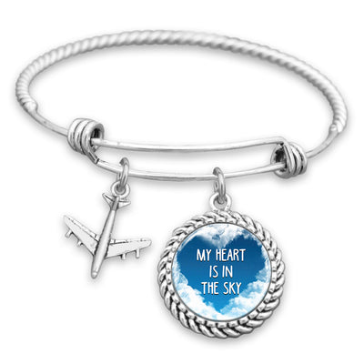 My Heart Is In The Sky Charm Bracelet