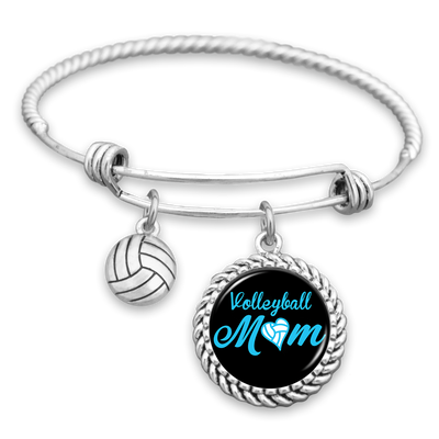 Volleyball Mom Charm Bracelet