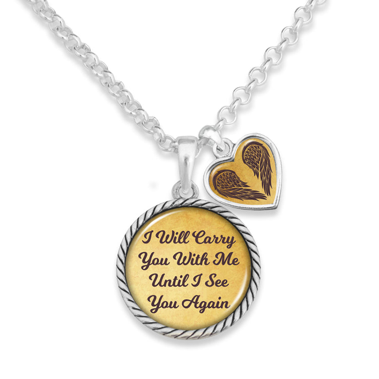Carry You With Me Heart Charm Necklace