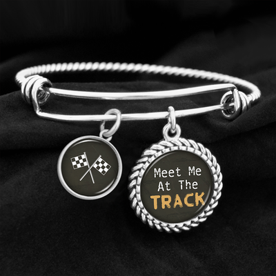 Meet Me At The Track Charm Bracelet