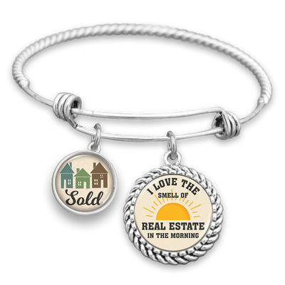 I Love The Smell Of Real Estate In The Morning Charm Bracelet