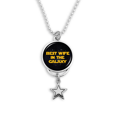 Best Wife In The Galaxy Rearview Mirror Charm