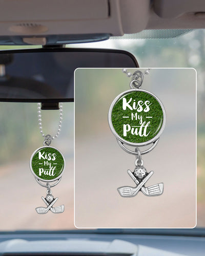 Golf Kiss My Putt Rearview Mirror Charm
