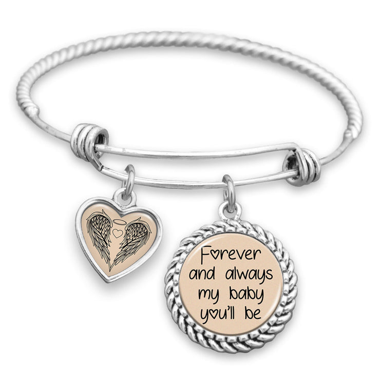 Forever And Always My Baby You'll Be Charm Bracelet