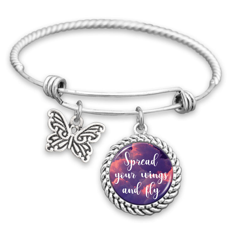 Spread Your Wings And Fly Charm Bracelet