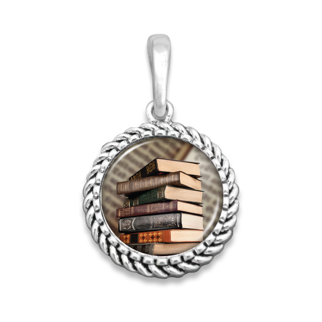 Old Books Easy-O Zipper Pull Charm