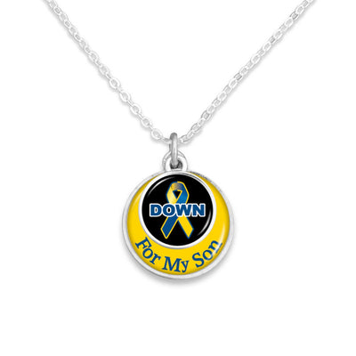 """For My Family"" Down Syndrome Advocacy Necklace"