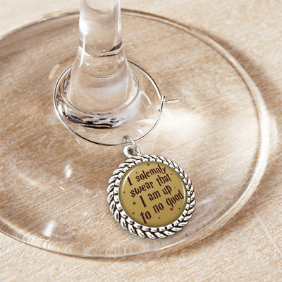 Up To No Good Wine Glass Charm
