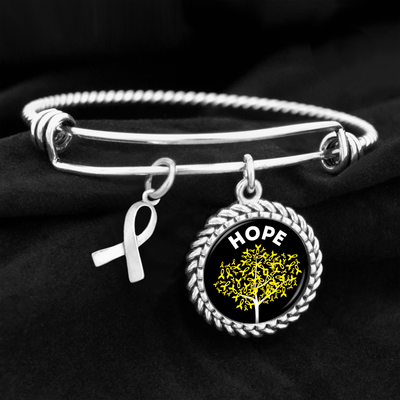 Hope Tree Childhood Cancer Awareness Charm Bracelet