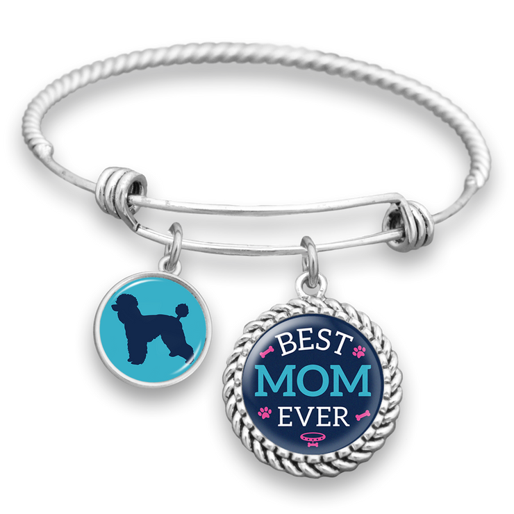 Best Mom Ever Poodle Charm Bracelet