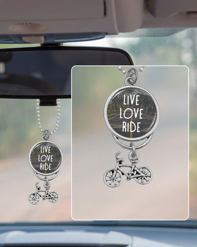 Live Love Ride Cycling Rearview Mirror Charm
