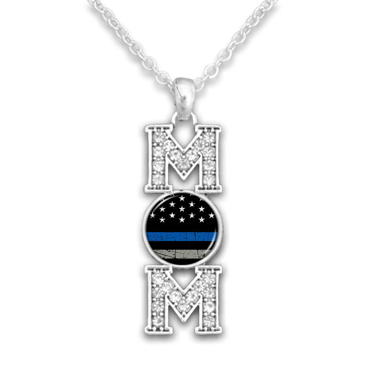 Thin Blue Line Mom's Pendant Necklace