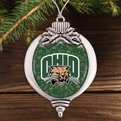 Ohio Bobcats Holiday Bulb Ornament