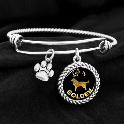Life Is Golden Charm Bracelet