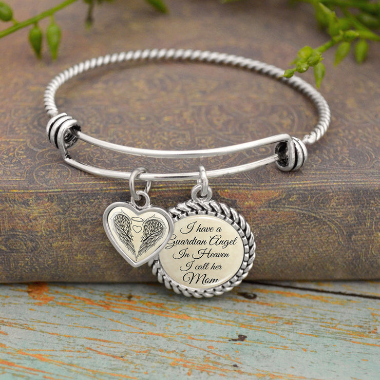 I Have A Guardian Angel In Heaven And I Call Her Mom Charm Bracelet