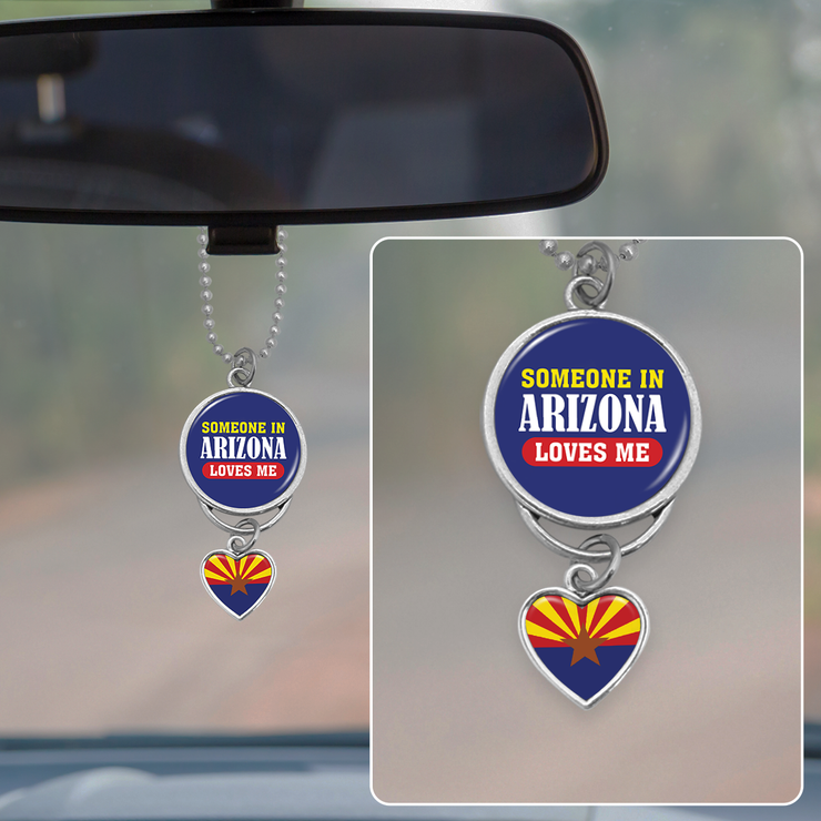 Someone In Arizona Loves Me Rearview Mirror Charm