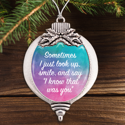 I Know That Was You Watercolor Bulb Ornament