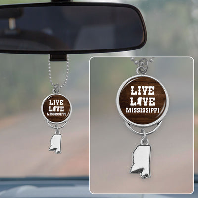 Live Love Mississippi Rearview Mirror Charm