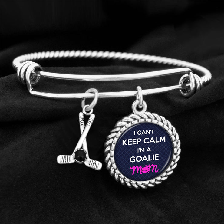 I Can't Keep Calm, I'm A Goalie Mom Charm Bracelet