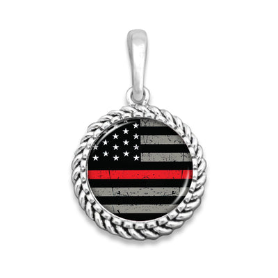 Thin Red Line Easy-O Zipper Pull Charm