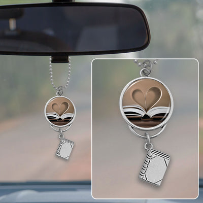 Book Love Rearview Mirror Charm
