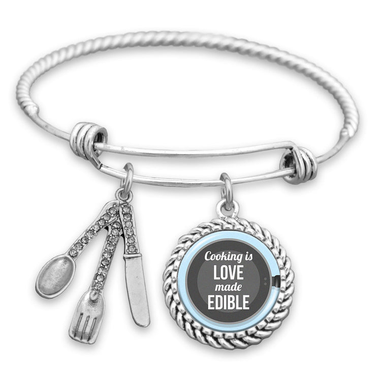 Cooking Is Love Made Edible Charm Bracelet