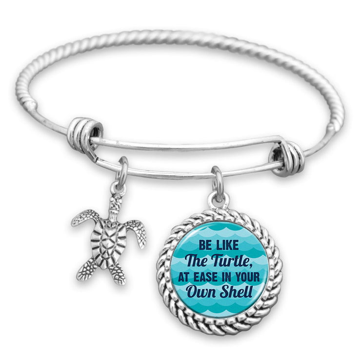 Be Like The Turtle, At Ease In Your Own Shell Charm Bracelet