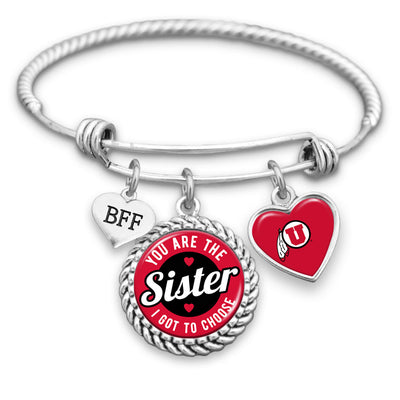 Utah Utes Sister I Got To Choose BFF Charm Bracelet
