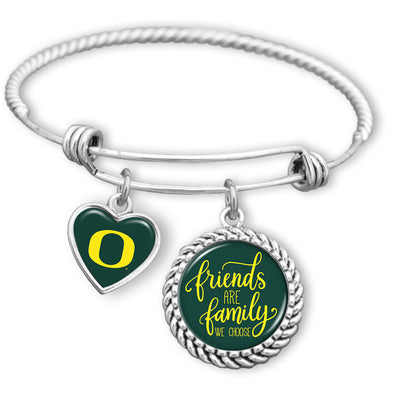 Friends Are Family You Choose Oregon Ducks BFF Charm Bracelet