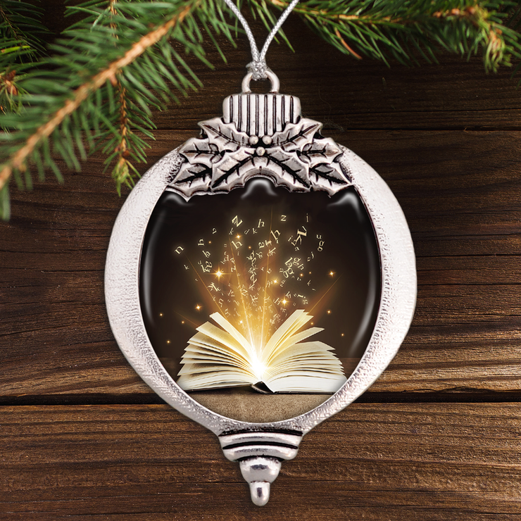 The Magic Of Books Bulb Ornament