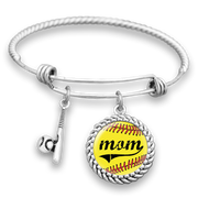 Softball Mom Charm Bracelet