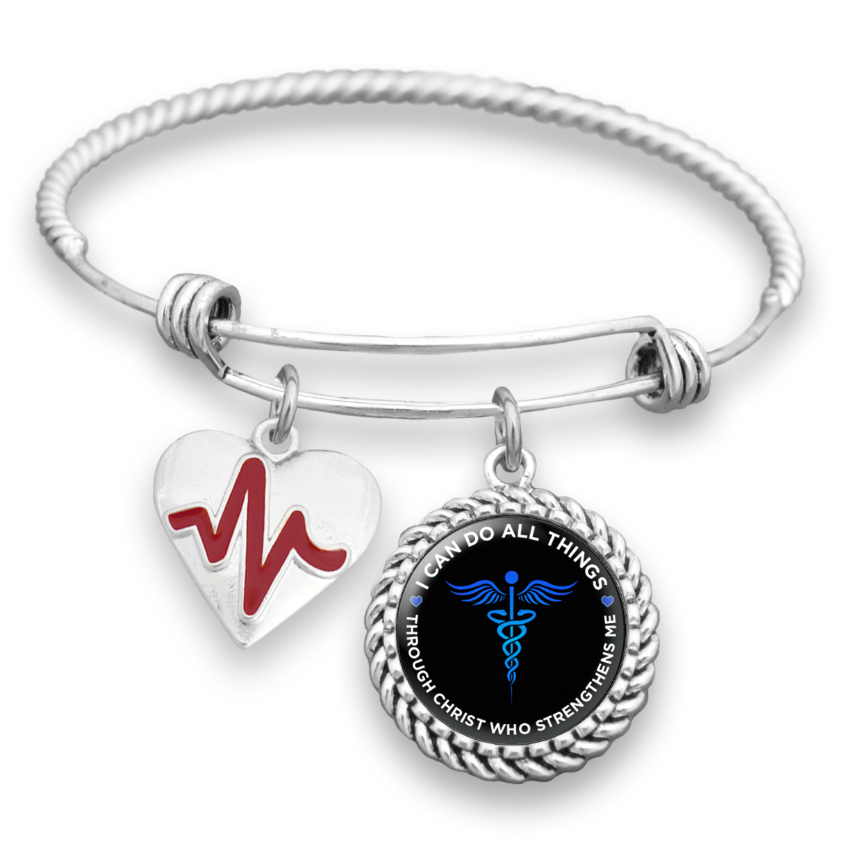 Can Do All Things Nurse Charm Bracelet