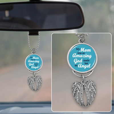 So Amazing Mom Angel Wings Rearview Mirror Charm