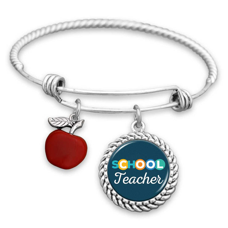 Cool Teacher Charm Bracelet
