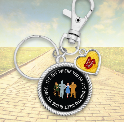 Who You Meet Along The Way Charm Key Chain