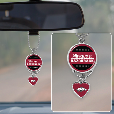 Always A Razorback Rearview Mirror Charm