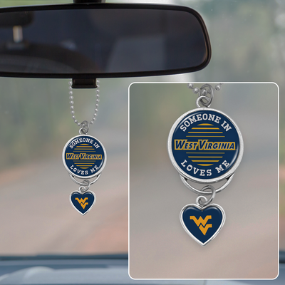 Someone Loves Me West Virginia Mountaineers Rearview Mirror Charm