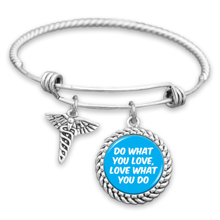 Do What You Love, Love What You Do Nurse Charm Bracelet