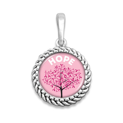 Breast Cancer Awareness Hope Tree Easy-O Zipper Pull Charm