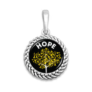 Hope Tree Childhood Cancer Awareness Easy-O Zipper Pull Charm