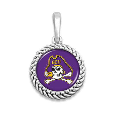 ECU Pirates Easy-O Zipper Pull Charm