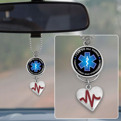 I Can Do All Things Star Of Life Rearview Mirror Charm